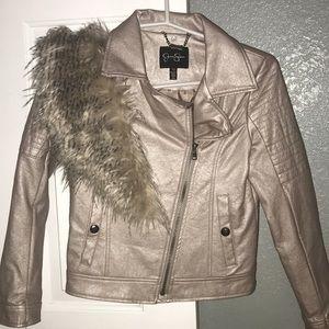 Girls Moto Jacket With Fur